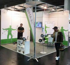 Unser kleiner feiner Beamie Stand auf der INTERMOD 2016 in Köln. Dafür war der Parcours für die Hoverboard Testfahrten umso größer.