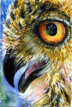 Eyes of Owls 14 Painting