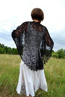 Weirwood tree shawl pattern by Agata A. Piasecka