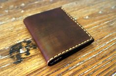 Handmade leather billfold wallet for men  brown by GalenUnique, $26.00