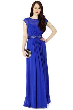 Colbalt blue bridesmaid dress