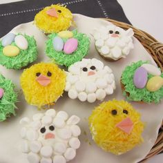 DIY cute Easter cupcakes