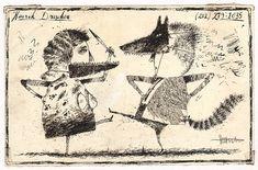 Henrik Drescher - 1980s Promotional Artwork Comic Art
