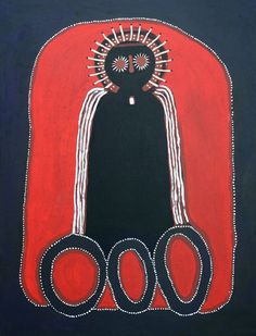 Aboriginal artist Jack Dale ~ Boss Wandjina from Iondra, 2007