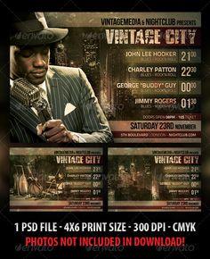 Vintage City Concert Flyer