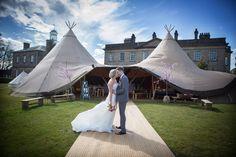 Romantic TotallyTipi Wedding picture by Richard Wynn Davies @Denton Jacobs Hall, Ilkley, West Yorkshire