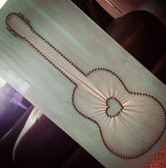 18 x 36 Custom Guitar String Art by AwBalderdash on Etsy