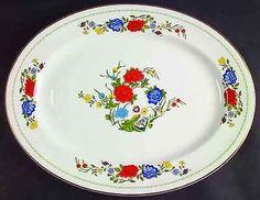 "Aynsley FAMILLE ROSE 16"" Oval Serving Platter 21925"