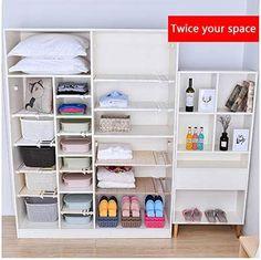 Expandable Storage Rack – Dealz Ninjaa Wardrobe Shelving, Closet Shelves, Extra Storage Space, Storage Spaces, Storage Rack, Storage Shelves, Flexible Pipe, Diy Kitchen Storage, Rack Design