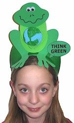 Think Green FROG Earth Day Hats