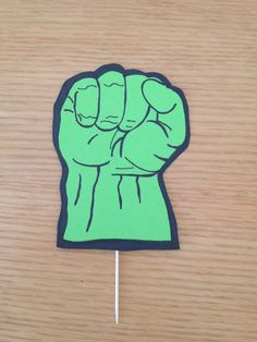 Hulk Hand Superhero Cake Pick Etsy Shop LivaLittleBakery