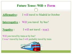 Future Tenses: Will / Going to 3/18
