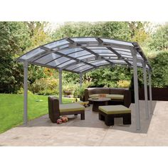 palram arcadia 12 ft w x 165 ft d carport u0026 patio cover - Wayfair Hot Tub