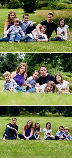 Family photo shoot, family, family photography, posing ideas for families
