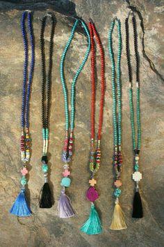 Festival Jewelry Tassel Necklace Beaded Turquoise by BohoCircus Tassel Jewelry, Bohemian Jewelry, Beaded Jewelry, Jewelry Necklaces, Jewellery Box, Tribal Jewelry, Bracelets, Boho Necklace, Fashion Necklace