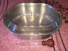 PYREX ~ VTG Turkey Roaster  RARE Only $425.00 on Ebay!