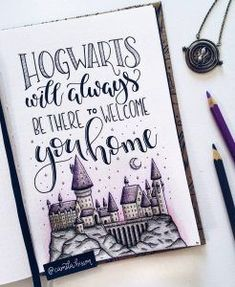 Are you a big Harry Potter fan? Come and discover these amazing Harry Potter Bullet Journal Ideas and Inspiration for your bujo! Harry Potter Journal, Arte Do Harry Potter, Theme Harry Potter, Harry Potter Quotes, Harry Potter Love, Harry Potter Fandom, Harry Potter Drawings Easy, Harry Potter Notebook, Harry Potter Painting