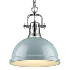 Duncan Chrome One Light Pendant Golden Lighting Dome Pendant Lighting Ceiling Lighting Kitchen Lighting Fixtures, Kitchen Pendant Lighting, Kitchen Pendants, Pendant Light Fixtures, Light Pendant, Coastal Light Fixtures, Kitchen Lamps, Coastal Lighting, Coastal Decor