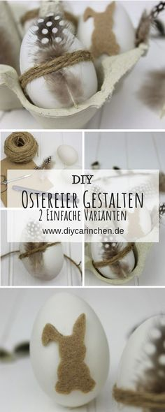 DIY: 2 quick and easy crafting ideas to make Easter eggs simple Making Easter Eggs, Bathtub Decor, Quick And Easy Crafts, Easy Paintings, Pin Collection, Painting On Wood, Handicraft, Decoration, Place Card Holders
