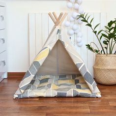 Pet teepee with poles and mat dog teepee cat teepee dog Cat Teepee, Kids Teepee Tent, Cat Toilet Training, Apartment Goals, Light Beige, Dorm Decorations, Play Houses, Dog Bed, Hanging Chair