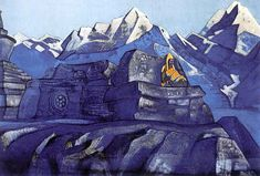 "Painting: Tsong-kha-pa, Nicholas Roerich ""I am consciousness"" or ""I am awareness"" are often emphasized in the nondual teachings, as nouns. Like a trophy you Tibet, Krishna, Nicholas Roerich, Bond, Russian Painting, Ukrainian Art, Art Database, Second World, Mountain Landscape"