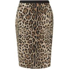 Precis Petite Animal Print Skirt, Multi Brown