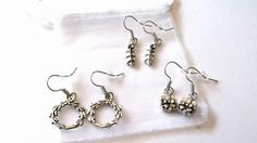 Set of 3 christmas earrings in gift bag - The Supermums Craft Fair, just £3.00 xx