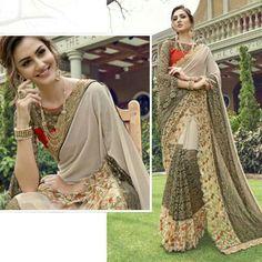 indian latest bollywood designer sarees pakistani wedding party asian sari suit #Handmade #SariSaree