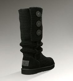 UGG Classic Cardy Boots 5819 Black - UGGs Outlet With No Tax - $66.00 Save more than $100, Free Shipping, Free Tax, Door to door delivery