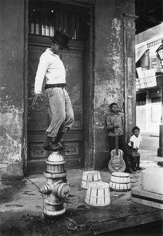 """""""Parade, New Orleans"""" photo by William Claxton, from """"Stop Smiling 34"""" series"""
