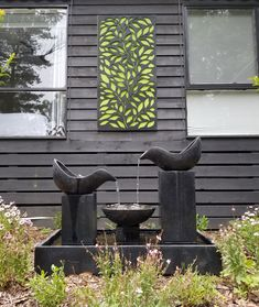 Just got the fountain going in the front garden of Ferny Hill Retreat. Looks fab and the sound is very soothing. Modern Water Feature, Holiday Apartments, Romantic Couples, Water Features, Fountain, Emerald, Clouds, Garden, Water Sources