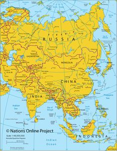 Asia Is The Largest Of The Worldu0027s Continents, Constituting Nearly  One Third Of The Landmass.... And Borders Europe (which Is Part Of The Same  Landmass)