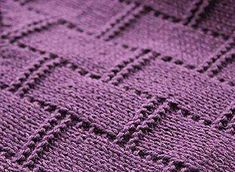 Красивый узор – плетенка из лицевых и изнаночных петель для вязания спицами. Подходящий узор для пледа и не только.  Верт. штрих - лицевая петля, горизонтальный штрих - изнаночная петля.