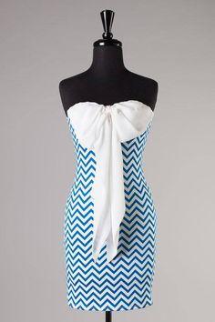 chevron bow dress  #swoonboutique