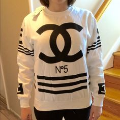 CC sweatshirt✨ Super cute only worn for modeling purposes. Has zipper on side! Fits like medium CHANEL Sweaters