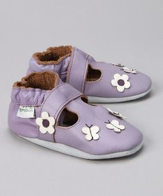 Purple Daisy & Butterfly Booties by MOMO Baby $8.99