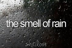 favorite smell of all!
