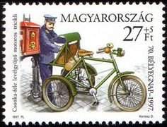 70th Stamp Day - Motorized tricycle