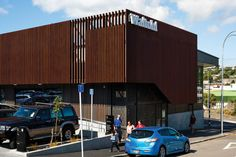 Vulcan Timber Screening in Manuka Finish Wellington New Zealand, Timber Screens, New Community, Facades, Entrance, Blade, Architecture, Wood, Design