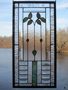 Cottage Style Bevelled Stained Glass Panel by RenaissanceGlass, $190.00