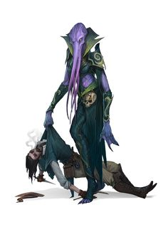 """geillustration: """"A recent D&D Character commission. Illithids are a ton of fun to paint! """""""