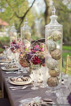 unique centerpieces by Whimsical Gatherings http://julierobertsphoto.com