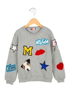 MSGM Kids' Embroidered Sweatshirt w/ Tags