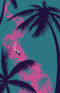 Palm tree graphic design