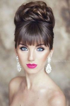 18 creative wedding hairstyles el stile spb From creative hairstyles with romantic loose curls to formal wedding updos, these unique wedding hairstyles would work great for your ceremony or reception. Unique Wedding Hairstyles, Creative Hairstyles, Bride Hairstyles, Hairstyles With Bangs, High Bun Hairstyles, Amazing Hairstyles, Elegant Hairstyles, Celebrity Hairstyles, Short Hair
