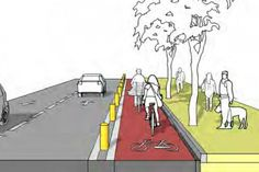 I think that this diagram is simple but gets the point across, make bikers and the people walking feel safe and more people will do it. Site Analysis Architecture, Architecture Site Plan, Urban Design Concept, Urban Design Diagram, Landscape And Urbanism, Landscape Design, Classic House Exterior, Urban Intervention, Public Space Design