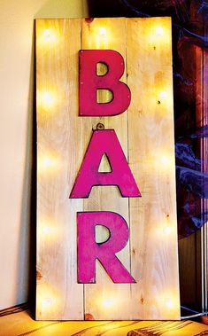 Whimsical Vintage French Open Themed Charity Event // Hostess with the Mostess® moulin rouge pink bar sign Diy Home Bar, Home Bar Decor, Bars For Home, Diy Bar Cart, Pink Bar, Pallet Art, Pallet Wood, Ideias Diy, Garden Bar