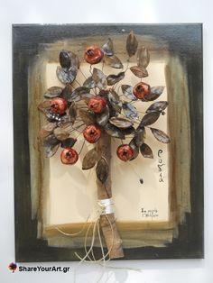 Ροδιά δέντρο από πηλό και σύρμα