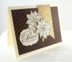Watercolor Winter Peace on Earth Christmas Card – Stampin' Up!