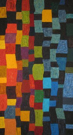 Woolen Tales Rug Art: Hot off the frame